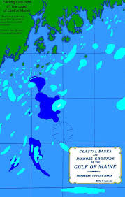Map Of Outer Banks Fishing Grounds Off The Central Maine Coast