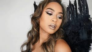 dark angel easy glitter halloween makeup 2016 youtube