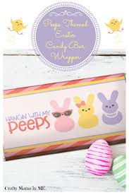 Free Printable Halloween Candy Bar Wrappers by Peeps Themed Easter Candy Bar Wrapper Free Printable Crafty