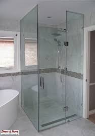 Non Glass Shower Doors Seamless Shower Doors Home Depot Bed And With Regard To More