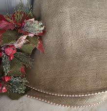 burlap tree skirt burlap christmas tree skirt with and white