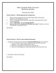 exle of cv resume computer skills resume sle musiccityspiritsandcocktail
