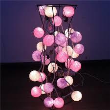 wholesale 10 led cotton balls string lights battery l