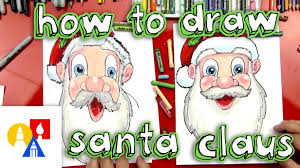 how to draw santa claus u0027s face youtube