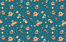 space wrapping paper vintage wrapping paper 5 sheets dotcomgiftshop poppy wrapping