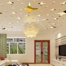 compare prices on acrylic ceiling mirrors online shopping buy low 39pcs acrylic mirror wall sticker stars ceiling decor diy 3d wall stickers livingroom home background decoration