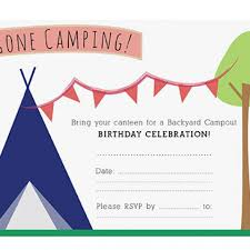 camping birthday party invitations christmanista com