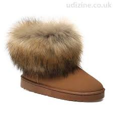 womens fur boots uk s boots with faux fur slip on brown
