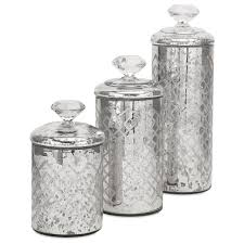 Glass Kitchen Canister Sets Diamond Finial Canister Set Of 3 Canister Jars Pinterest