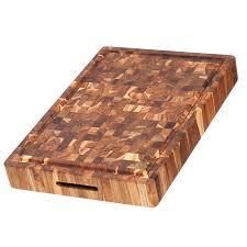 amazon com teak cutting board rectangular butcher block with