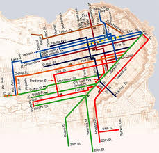 san francisco map cable car cable car lines map fullest extent