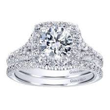 engagement rings round images 14k white gold 1 27cttw round diamond engagement ring with cushion jpg