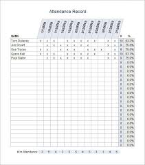 Attendance Sheet Template Excel Attendance Sheet Templates 10 Free Documents In Pdf