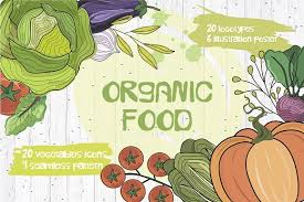vegetables set organic food illustrations creative market