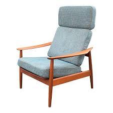 vintage arne vodder for cado danish modern teak recliner chair