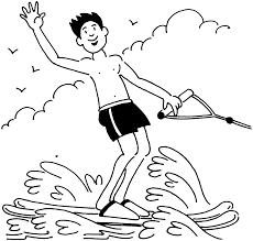 skiing water coloring pages spring coloring pages free printable