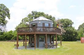 this is a 454 sq ft tiny silo home on a 25 acre horse ranch in