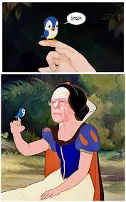 Snow White Meme - feel the bird birdie sanders know your meme