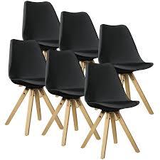Esszimmer Bei Amazon En Casa Esstisch Essgruppe Mit 6 Stühlen Schwarz 180x80 Amazon