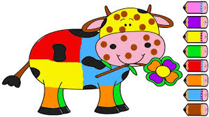 cow coloring pages for kids coloring book youtube