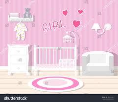 Baby Room Interior by Baby Room Pinkbaby Room Furniturenursery Interiorflat Stock Vector