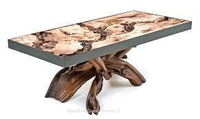 Sell Home Interior Burl Wood Coffee Table Furniture Lodge Log Cocktail Table With