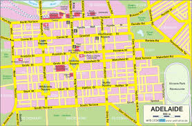 australia map of cities adelaide map