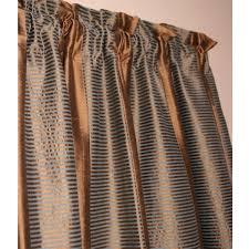 Blue Silk Curtains Jordan Brown And Blue Dupioni Silk Curtain Panel Silk Curtains