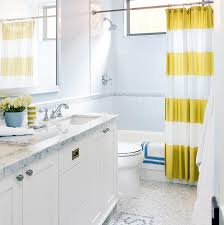 Jack And Jill Bathroom Jack And Jill Bathroom With Yellow And Blue Accents Contemporary