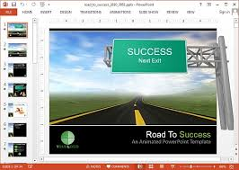 road powerpoint template animated uphill road powerpoint template