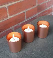 copper wedding wedding votive candle holder fall wedding decor