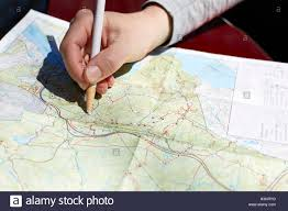 Map Of New York State Parks by Woman U0027s Hand On Folding Map Of Harriman And Bear State Parks New