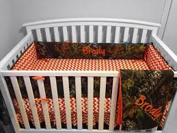 Orange Crib Bedding Orangechevron4pc Orange Crib Bedding Sets Camo Chevron 4pc Set