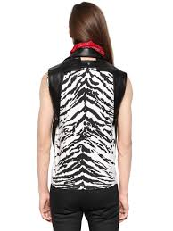 leather biker vest saint laurent sleeveless nappa leather biker vest in black for men