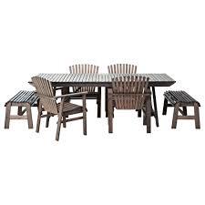 Ikea Esszimmergruppe ängsö Tisch Bank 3 Armlehnstühle Ikea Durch Erneutes Lasieren Ca