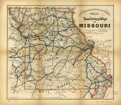 Union Pacific Railroad Map Johnson County And Western Missouri History 1864 July 4th