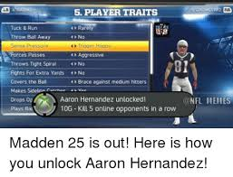 Hernandez Meme - lb 4 rat 5 player traits tuck run rarely throw ball away no 4