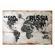 Wall Art World Map by World Map