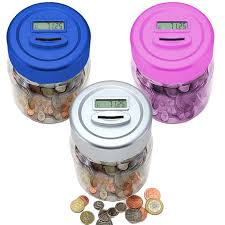 Coin Counter Uk Pound Lcd Display Digital Coin Counting Jar Piggy Bank