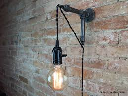 Hanging Industrial Lights by Industrial Wall Sconce Pendant Edison Hanging Lamp