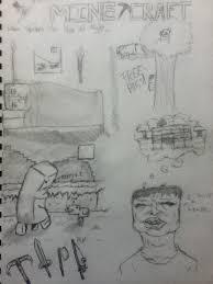 minecraft sketches by justinb22 on deviantart