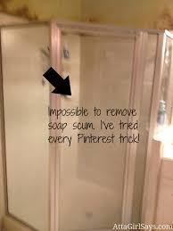 Remove Soap Scum From Glass Shower Doors Master Bathroom Makeover Soap Scum Shower Doors Atta Says 0