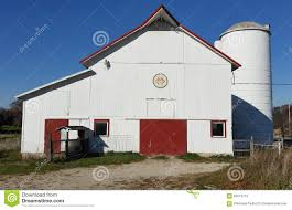 Red Barn Doors by White Barn With Red Doors Stock Photo Image 62613712