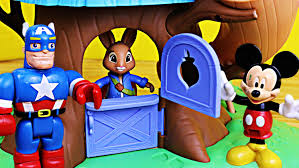 rabbit treehouse mickey mouse at rabbit treehouse with peppa pig and duplo