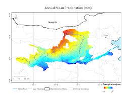 Yellow River Map Mean Precipitation And Temperature Delight Project Website