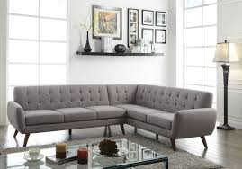 Linen Tufted Sofa by Sectional Sofa