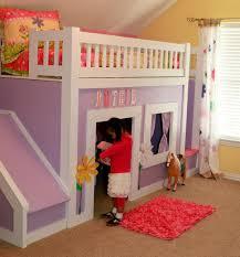 princess bed with stairs and slide ana white woodworking projects