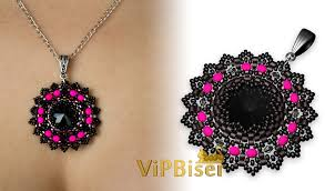black beaded pendant necklace images Black beaded pendant 3d tutorial jpg