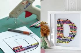 crayon letter picture craft goodtoknow