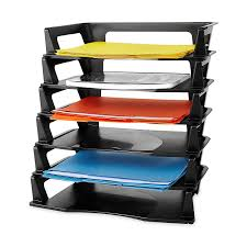 amazon com rubbermaid regeneration plastic letter tray 6 pack